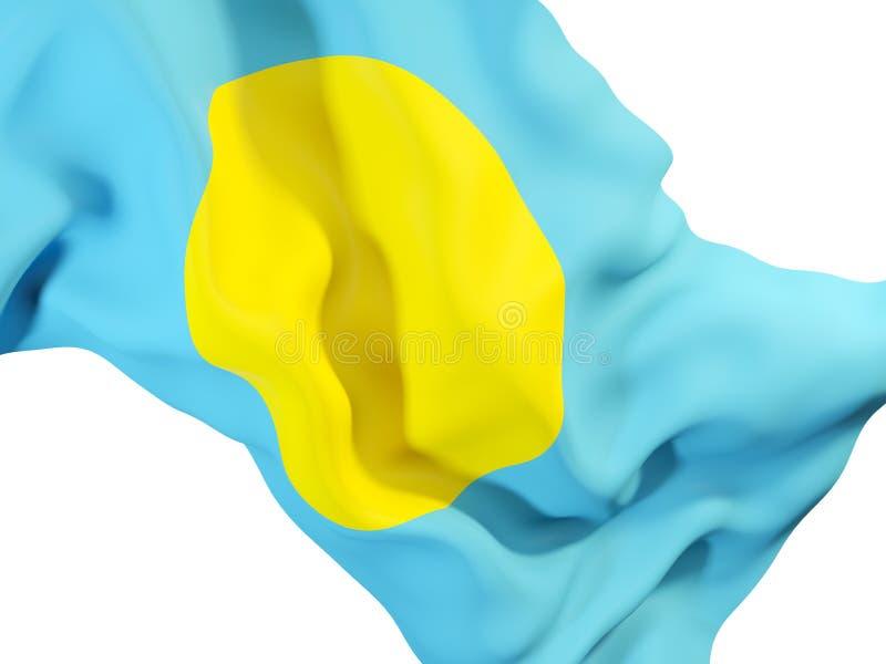 Vinkande flagga av palau royaltyfri illustrationer