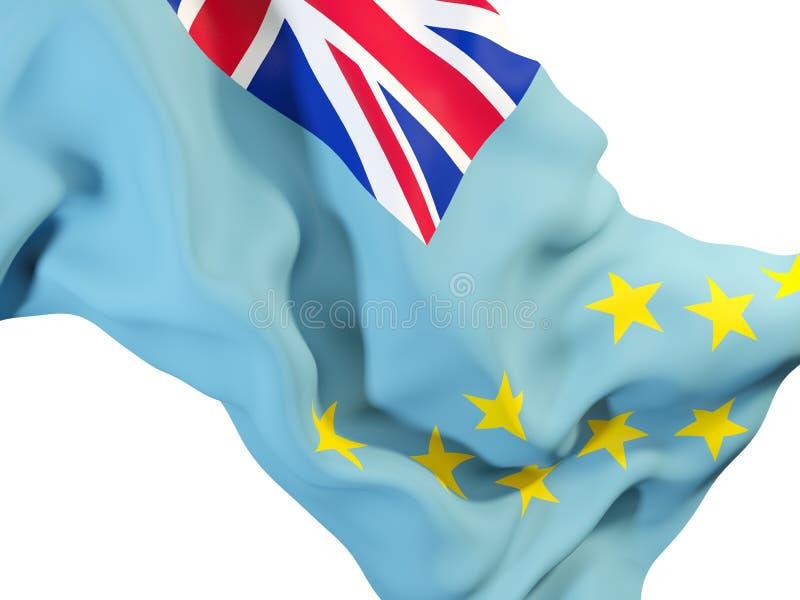 Vinkande flagga av tuvalu stock illustrationer
