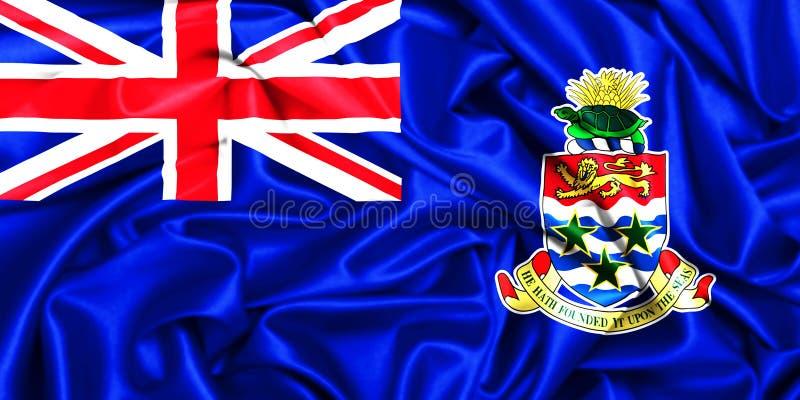 vinkande flagga 3d av Caymanöarna royaltyfri illustrationer