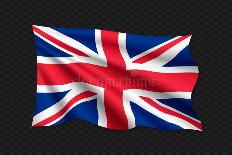 vinkande flagga 3D royaltyfri illustrationer