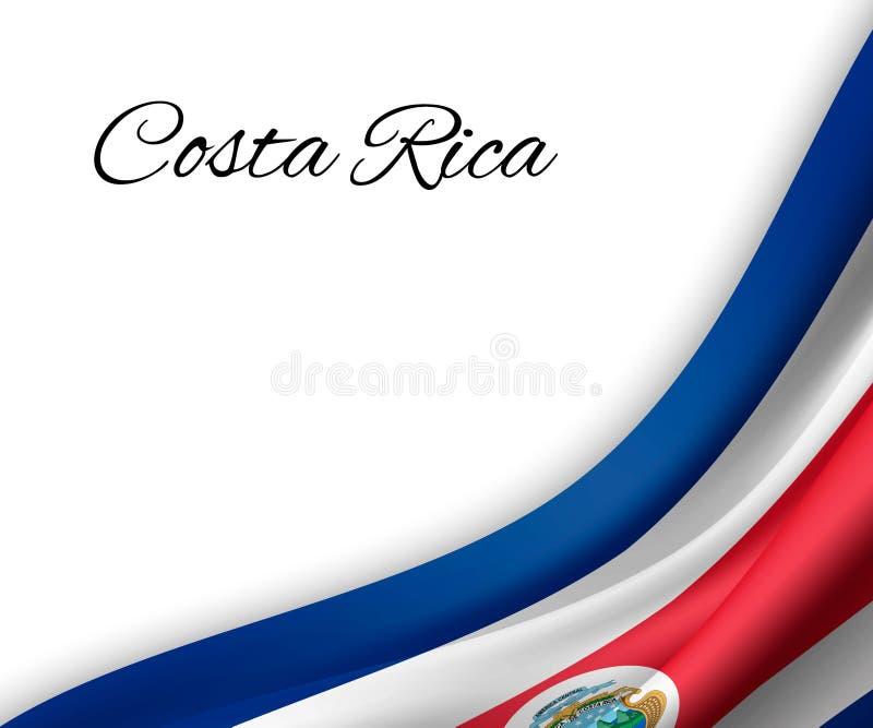 vinkande flagga på vit bakgrund stock illustrationer