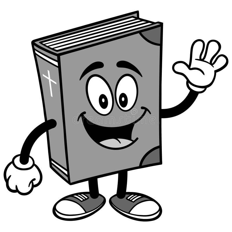 Vinkande illustration för bibelskolamaskot stock illustrationer