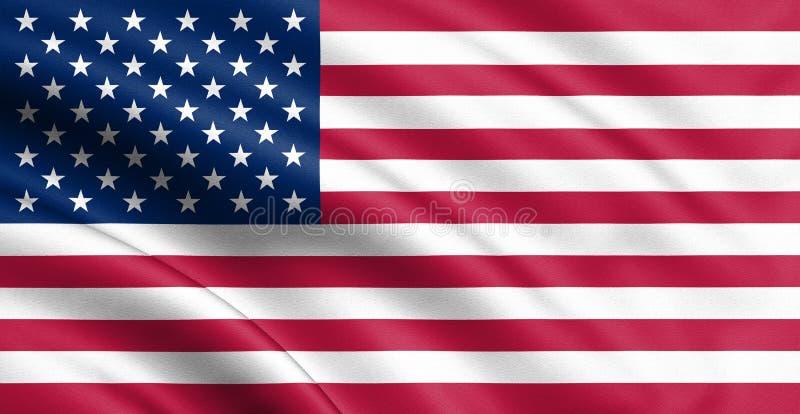 Vinkande USA flagga illustration 3d för din design royaltyfri fotografi