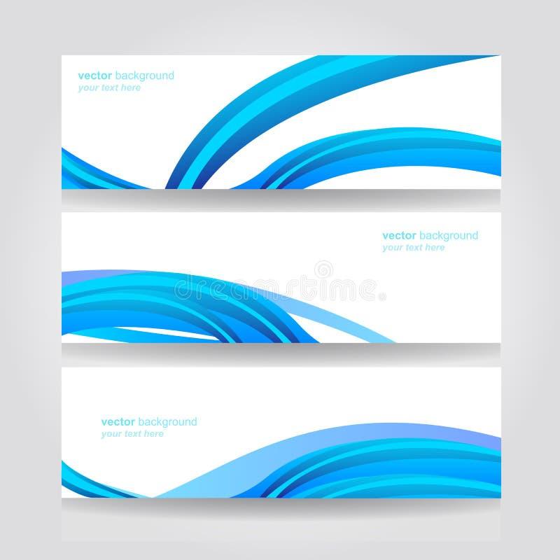 Abstrakt titelradblått vinkar vektordesign royaltyfri illustrationer