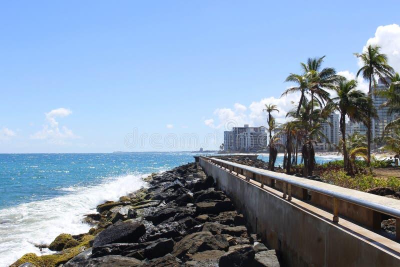 Vinkar och gömma i handflatan - LaVentana al Mars parkerar - Condado, San Juan, Puerto Rico royaltyfria bilder