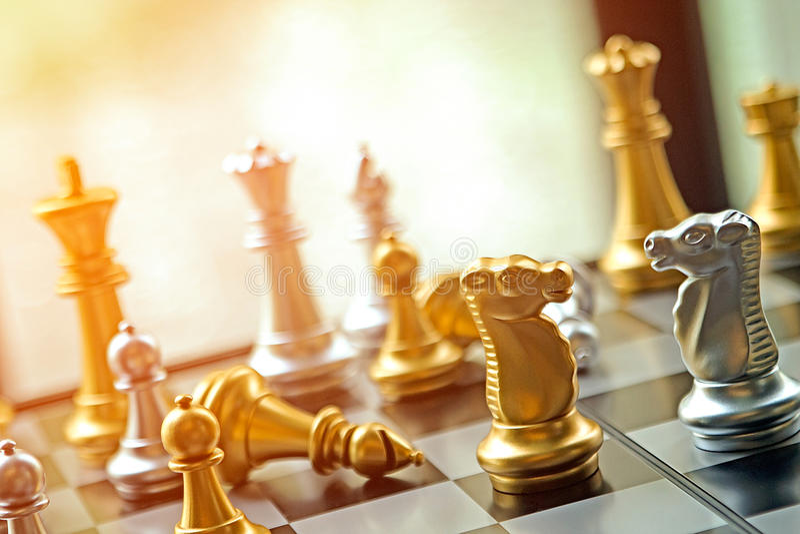 Vinkelaffärskonkurrensbegreppet med stark sinnesrörelse och värme royaltyfria bilder