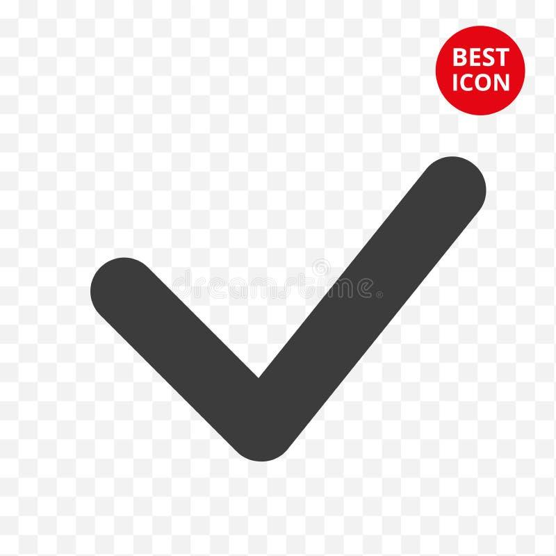 Vinkjepictogram Het teken van de keusknoop Het kenteken van de controlelijstcontrolepost Geïsoleerd keur element goed Vector illu vector illustratie