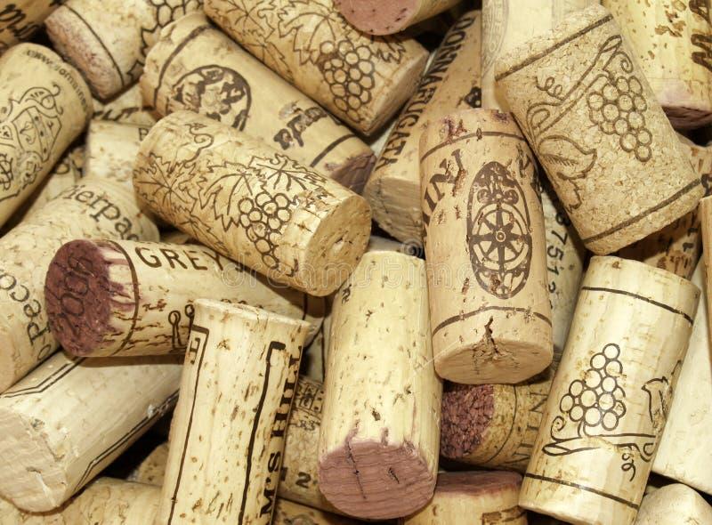 Vinkorkar arkivbild