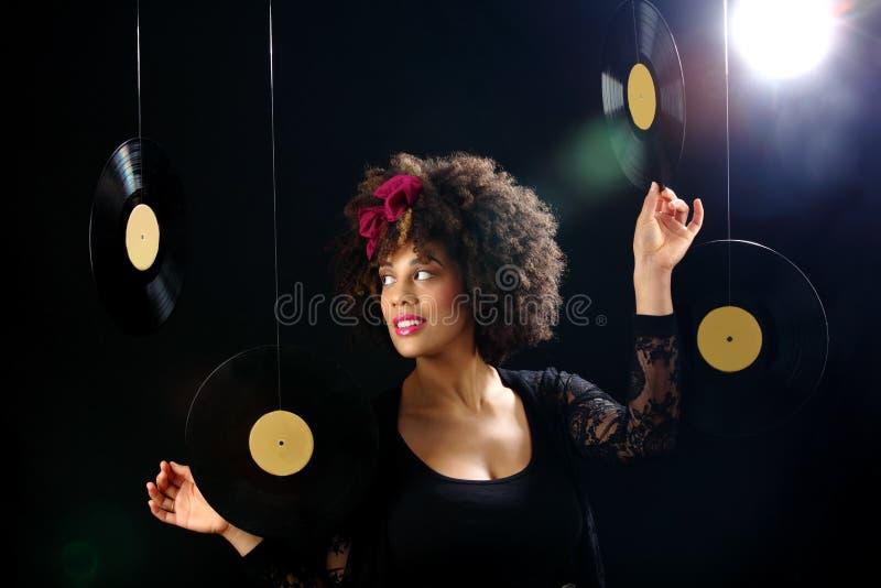 Vinly records stock photos