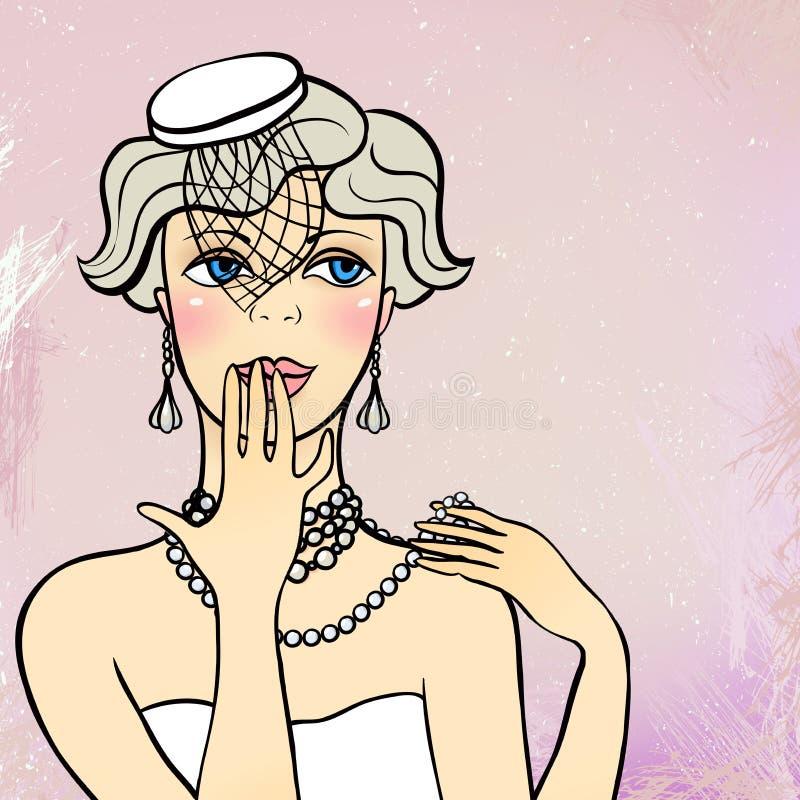 Vinmeisje royalty-vrije illustratie