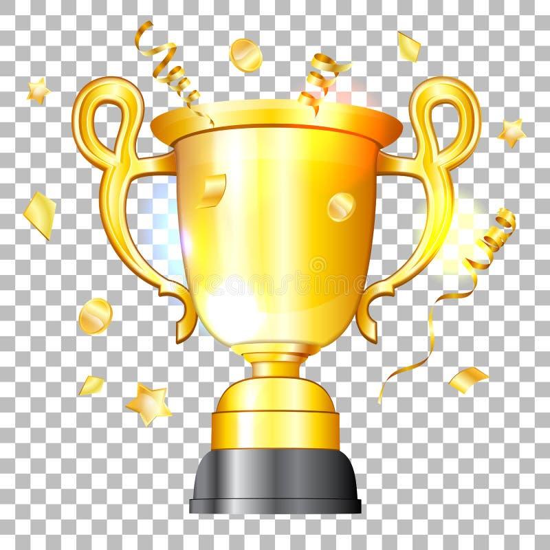Vinnare för guld- kopp royaltyfri illustrationer