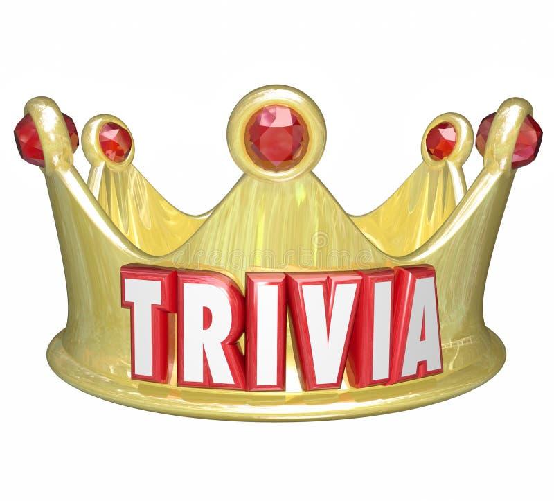 Vinnare för lek för småsakerordkonung Queen Crown Competition royaltyfri illustrationer