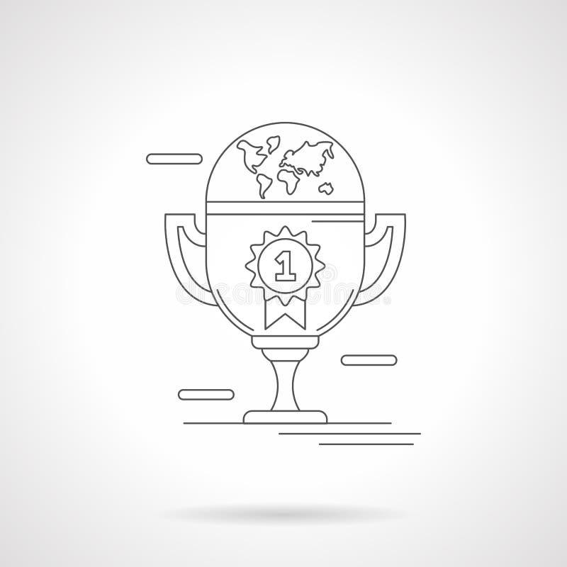 Vinnare kuper den detaljerade linjen illustration stock illustrationer