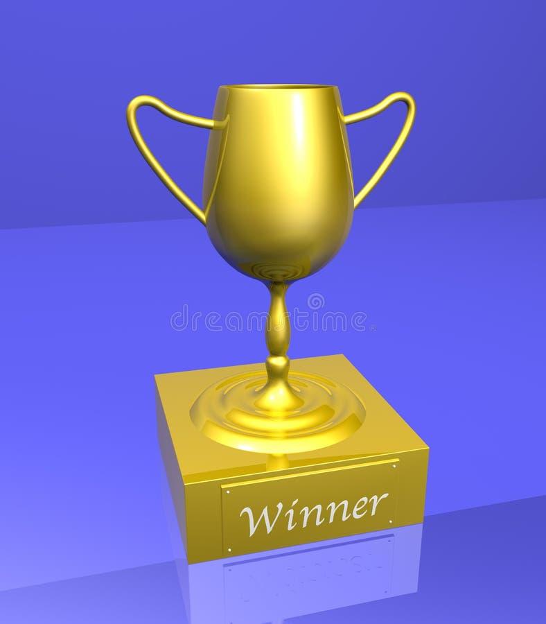 vinnarear för 1 trofé royaltyfri illustrationer
