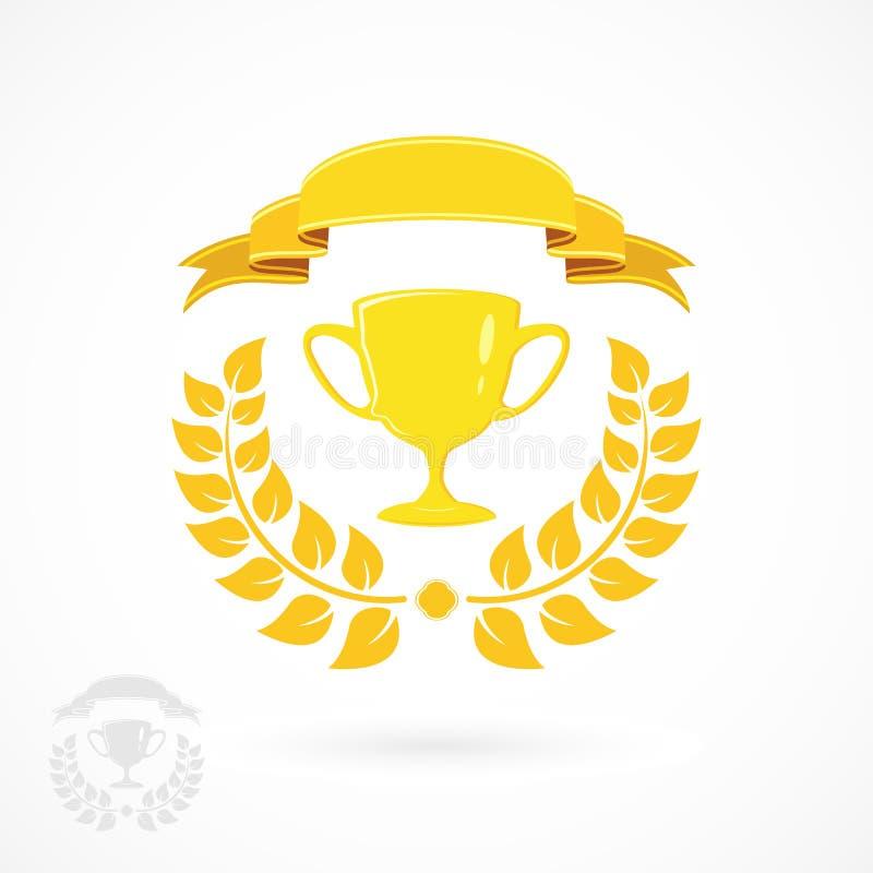 Vinnarekopp royaltyfri illustrationer