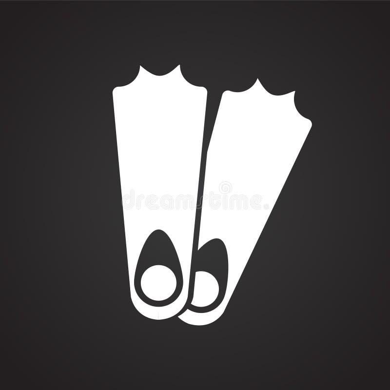 Vinnen op zwarte achtergrond vector illustratie