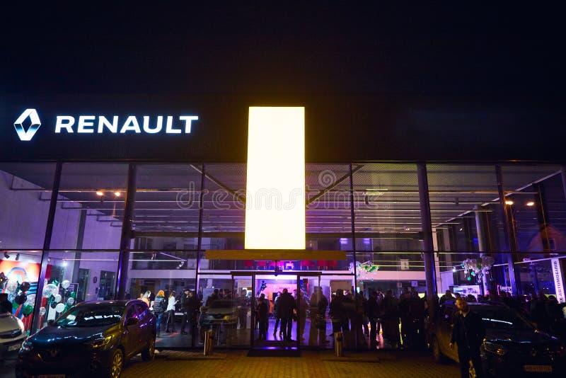 Vinnitsa, Ουκρανία - 21 Μαρτίου 2018 Εξωτερικό αιθουσών εκθέσεως της Renault στοκ εικόνες