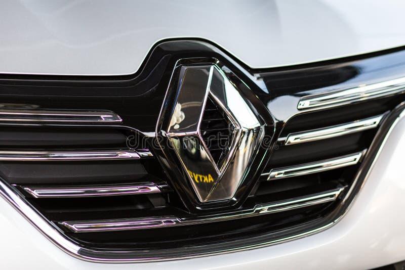 Vinnitsa, Украина - 20-ое апреля 2018 Автомобиль концепции Renault MEGANE стоковое фото rf