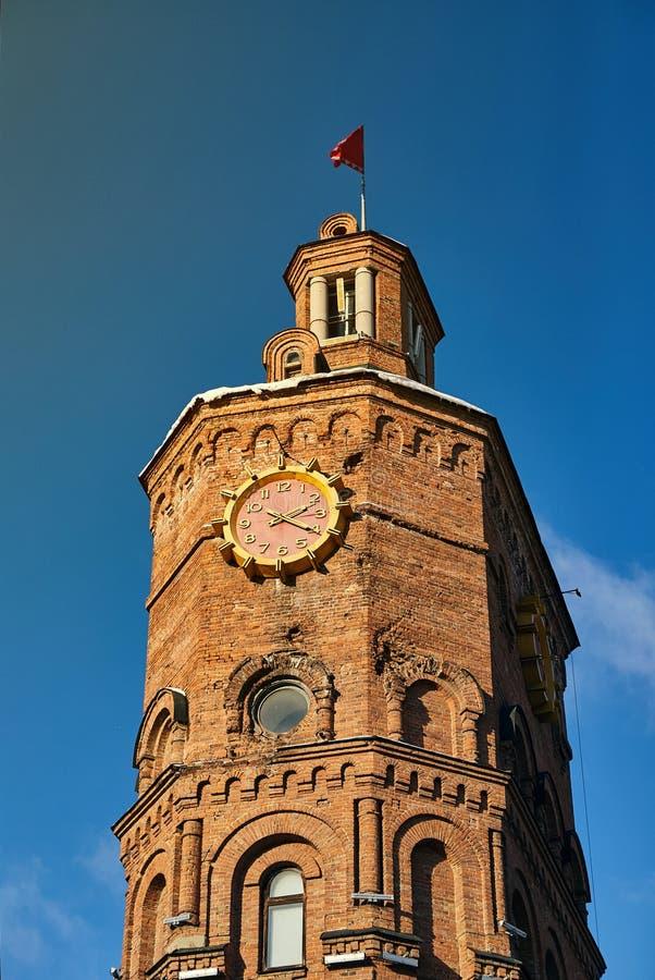 Vinnitsa, Украина - 28-ое ноября 2018: Водонапорная башня на европейском квадрате в Vinnitsia стоковое фото