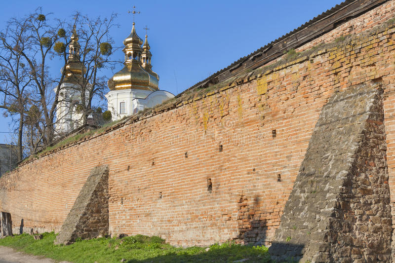 Vinnitsia historic city center, Ukraine. Vinnitsia historic city center with the complex of medieval fortification walls Muri built in 17th century and Domes of royalty free stock photography