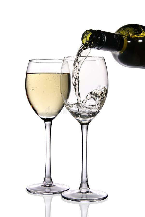 Vino bianco. fotografia stock