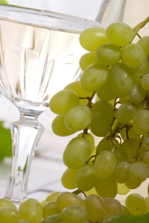 Download Vino bianco ed uva fotografia stock. Immagine di bevanda - 7312688