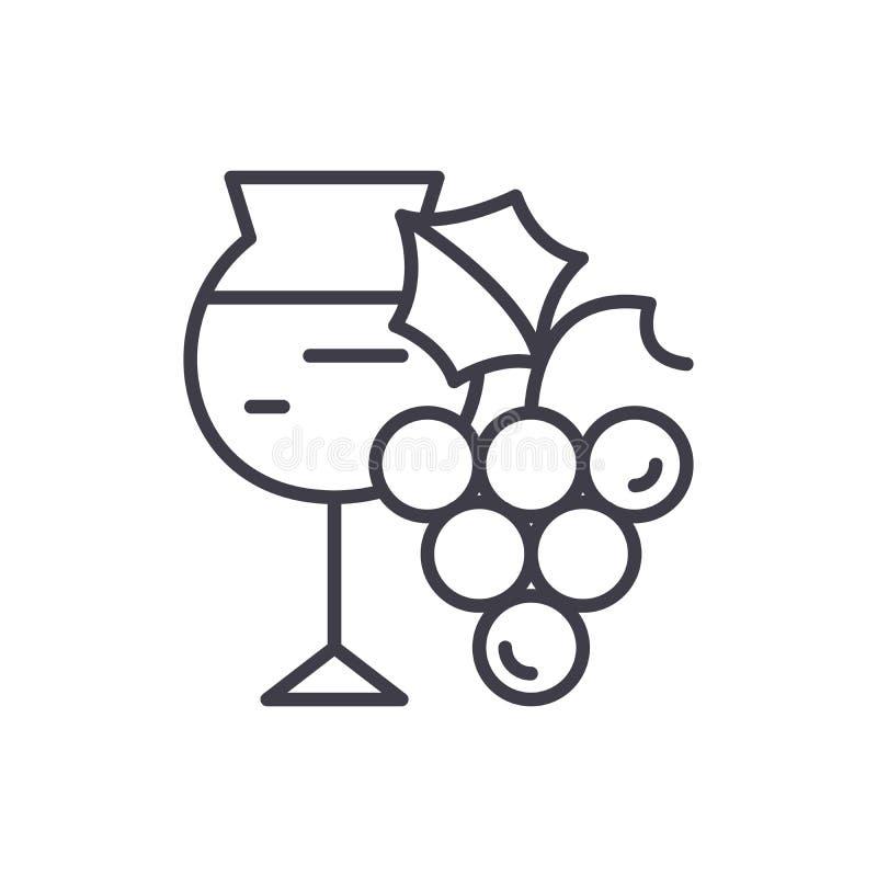 Vino che annerisce concetto dell'icona Simbolo piano di vettore di fabbricazione di vino, segno, illustrazione illustrazione vettoriale