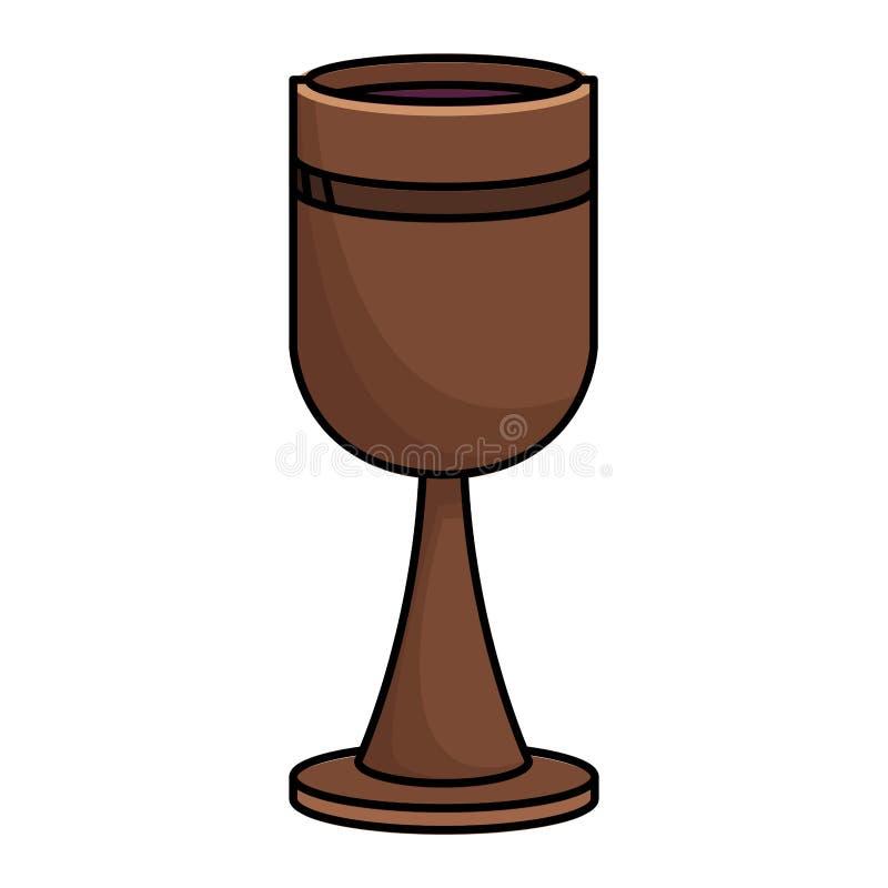 Vino de madera de la cáliz libre illustration
