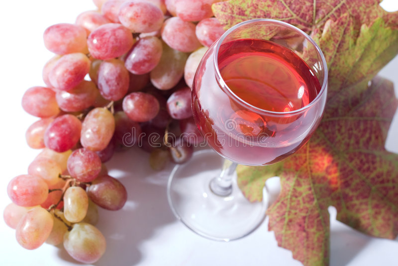 Vino di Rosa fotografie stock