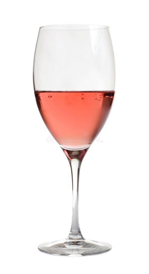 Vino di Rosa in di cristallo, fotografia stock