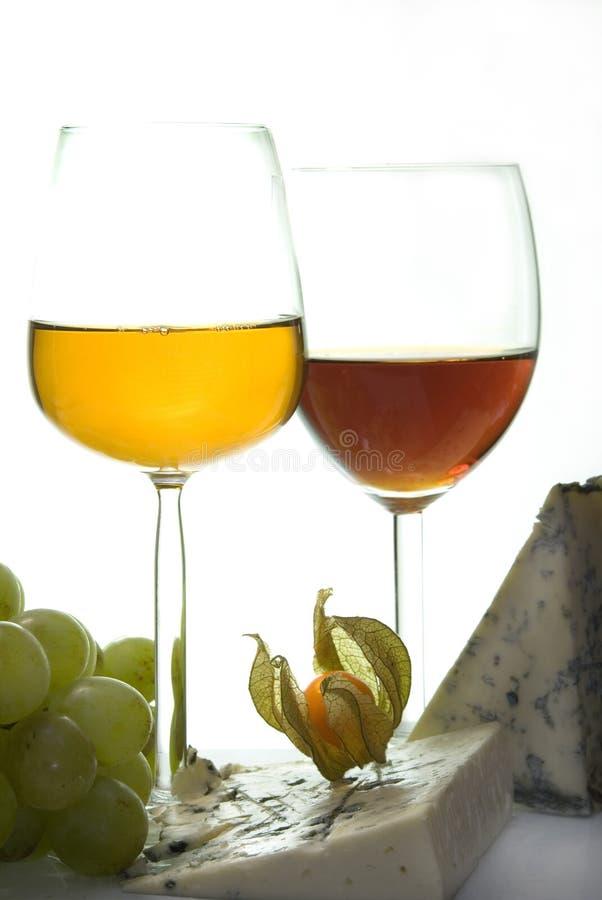 Vino dolce & formaggio III immagine stock
