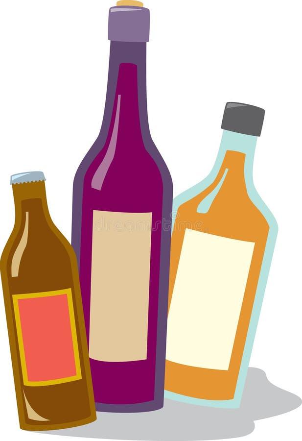Vino e liquore della birra royalty illustrazione gratis