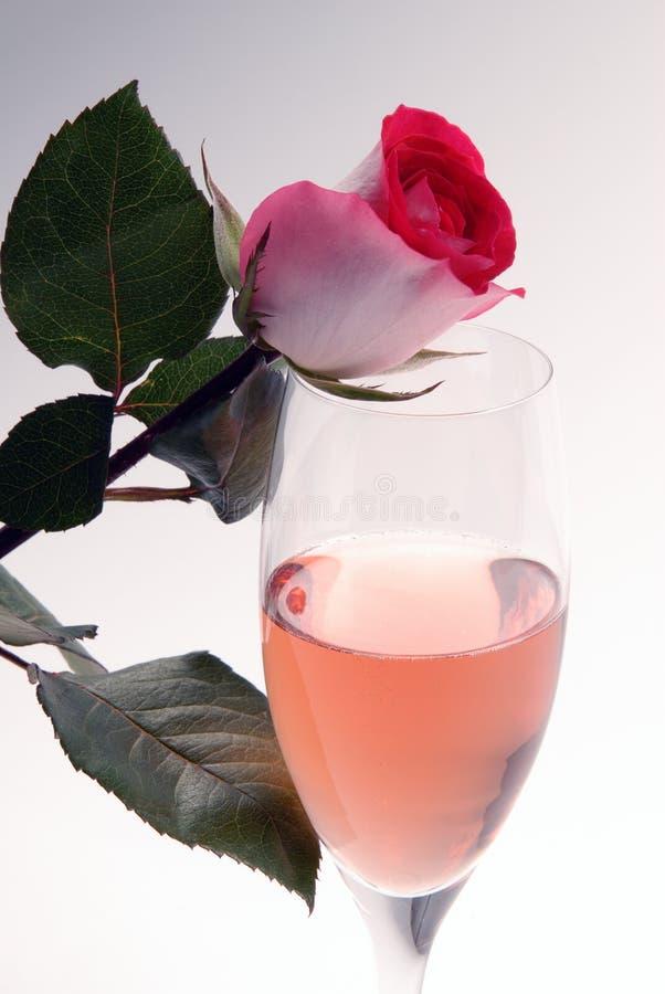 Vino e Rosa immagine stock libera da diritti