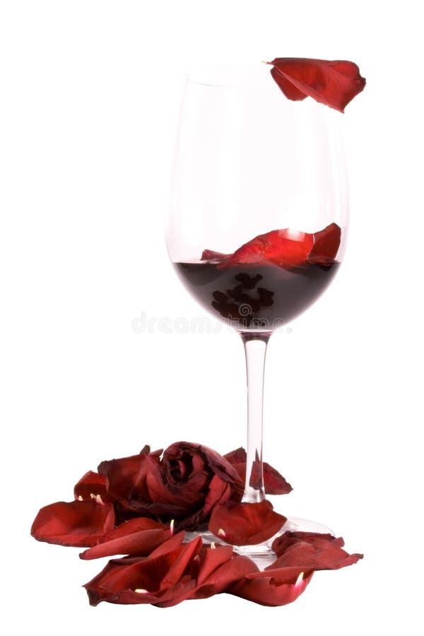 Vino e rose immagine stock