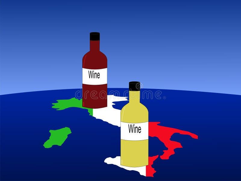 Vino italiano con la correspondencia stock de ilustración