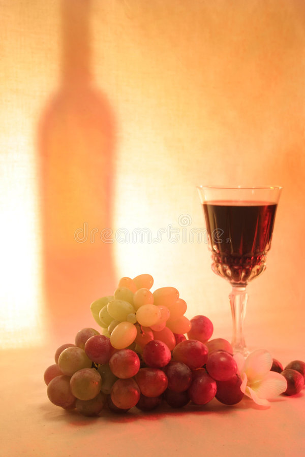 Vino, noce di macadamia della frutta fotografie stock libere da diritti