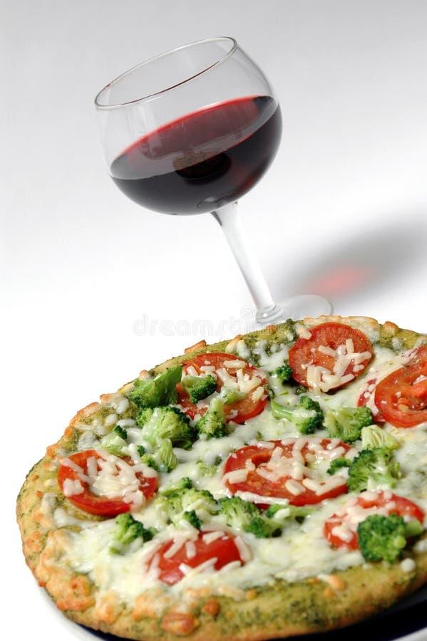 Vino organico della pizza fotografia stock