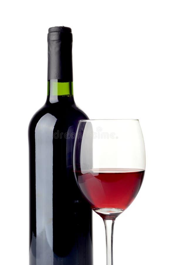 Vino rojo aislado en blanco fotos de archivo