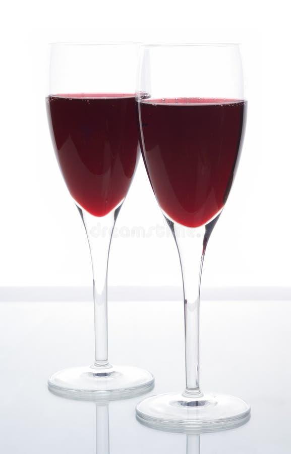 Vino Rojo Chispeante Elegante Fotos de archivo