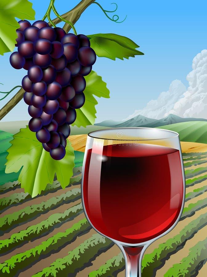 Vino rosso illustrazione vettoriale