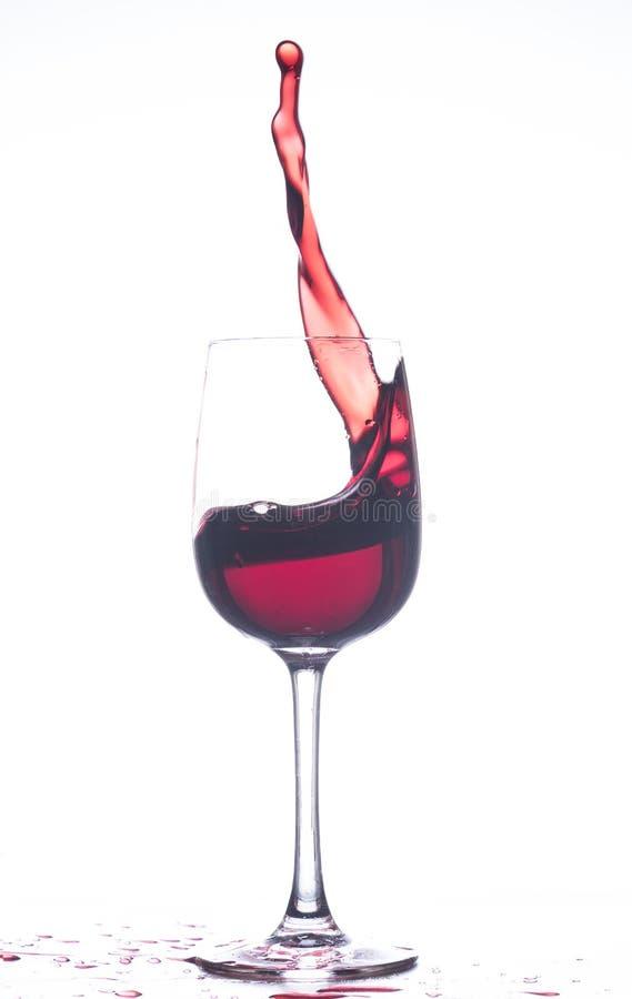 Vino rosso di turbinio fotografia stock libera da diritti