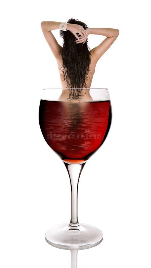 Vino rosso e bellezza fotografia stock