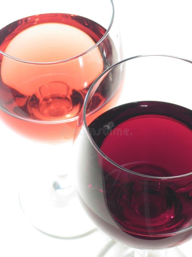 Vino rosso e rosè fotografie stock