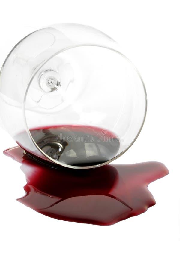 Vino rosso rovesciato immagini stock libere da diritti