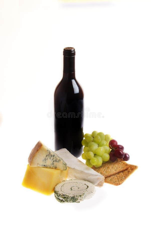 Vino y queso fotografía de archivo