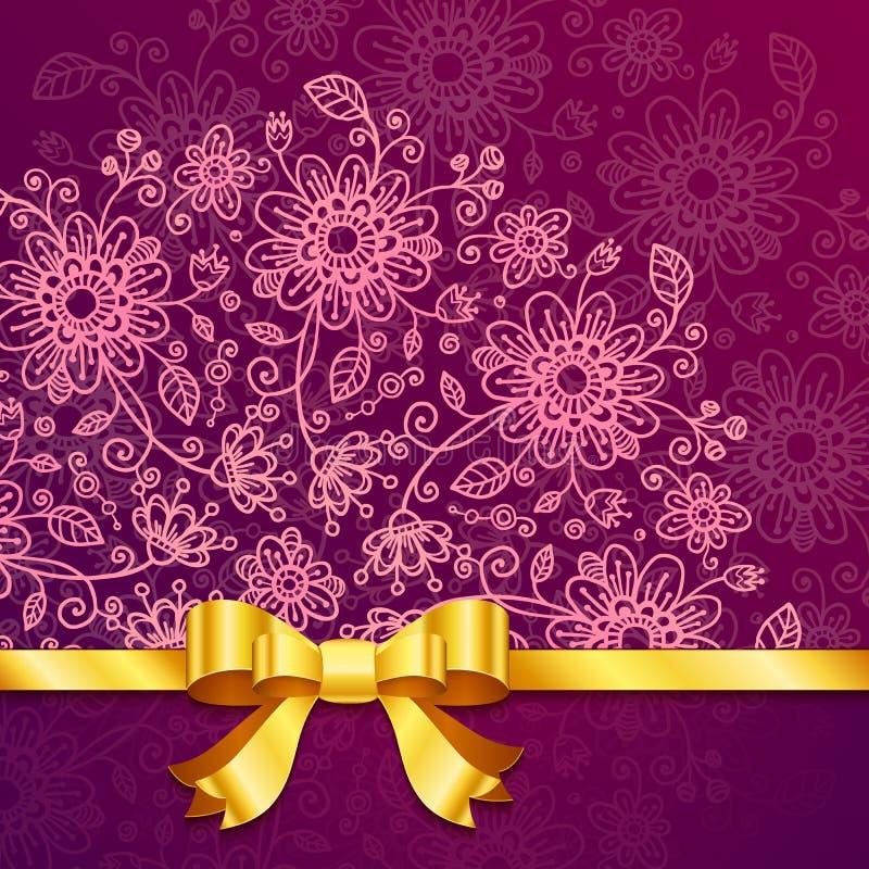 Download Vinous Vintage Flowers Vector Background Stock Vector - Image: 28886325