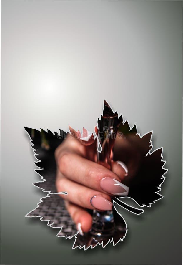 Vinsammansättningsbakgrund med kopieringsutrymme vektor illustrationer