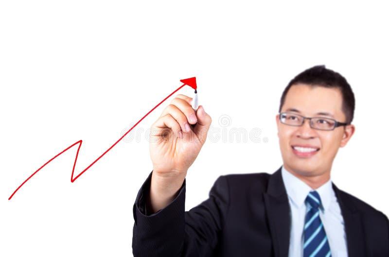 vinst för affärsmanteckningsgraf arkivbild