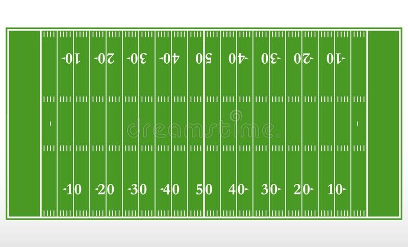 Vinst för fält för amerikansk fotboll Översikt av linjer på ett fält för amerikangräsplanfotboll stock illustrationer