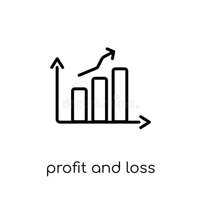 Vinst- och för förlustkonto symbol  stock illustrationer
